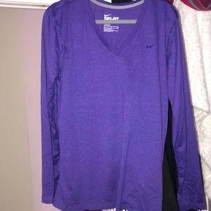 Brand new long sleeve dri-fit purple top